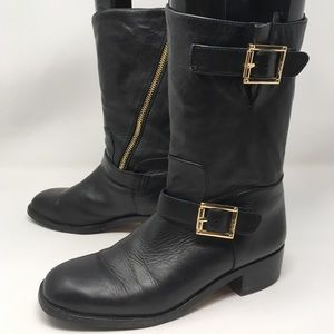 VINCE CAMUTO | warren black leather boots short